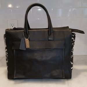 Coach Bleecker Riley Python Embossed Leather Tote